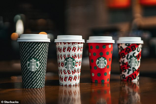 Cheers! The arrival of the cups also heralds the return of holiday beverages - Toasted White Chocolate, Caramel Brulee Latte, Peppermint Mocha, Chestnut Praline Latte and Eggnog Latte
