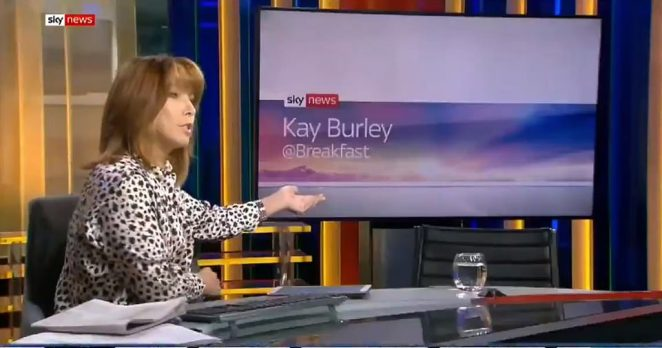 Conservative Party chairman James Cleverly was 'empty-chaired' by Kay Burley on Sky News this morning after apparently being double-booked. Kay Burley highlighted his absence from her breakfast show this morning, which is broadcast from Millbank in Westminster, where all the broadcasters have studios.