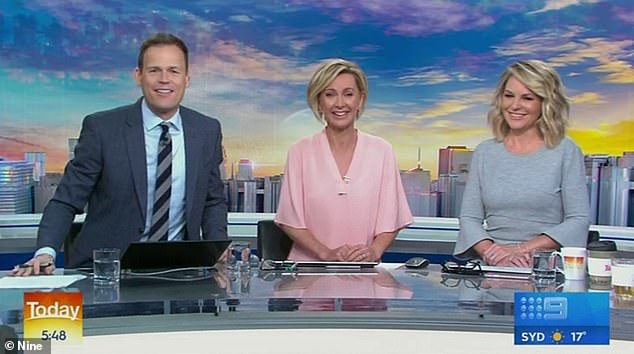 Will they be replaced? Karl and Allison could replace current Today show duo Georgie Gardner (right) and Deb Knight (centre), who have struggled with viewership throughout the course of the year