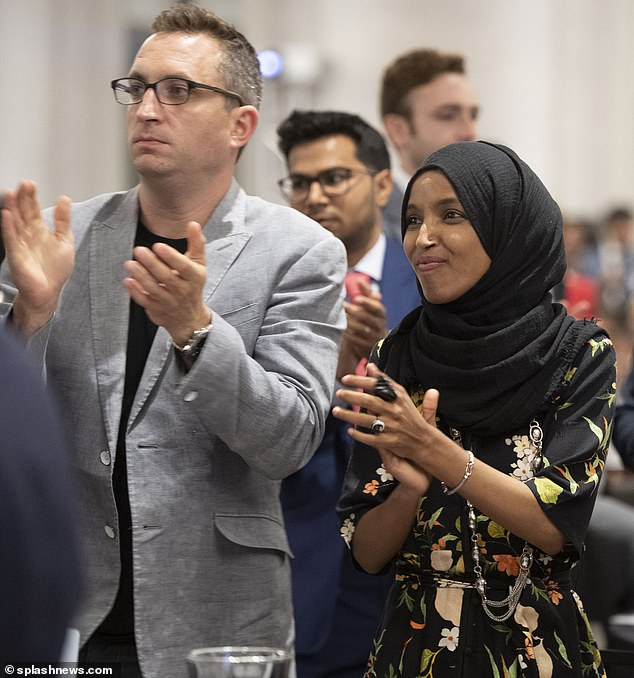 Ilhan for Congress paid the E Street Group more than $222,000 between August last year and July when DailyMail.com revealed the couple's affair