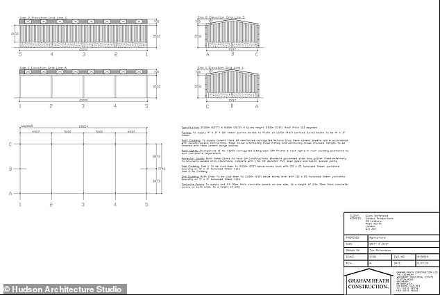 Planning documents from Graham Heath Construction show the size of the plot