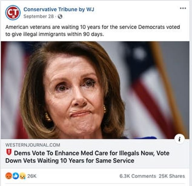 The top fake news political posts mostly attacking Democrats. Facebook is fighting back the notion it should 'fact-check' campaign ads ahead of the 2020 election