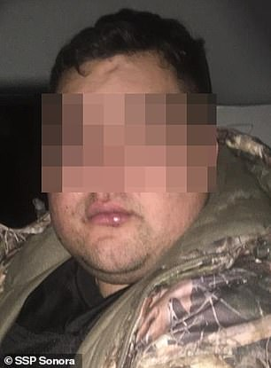 The suspect - only identified as a 30-year-old man named Leonardo - was found late Tuesday in the town of Agua Prieta, right at the border with the U.S. state of Arizona, holding two hostages who were gagged and tied inside a vehicle