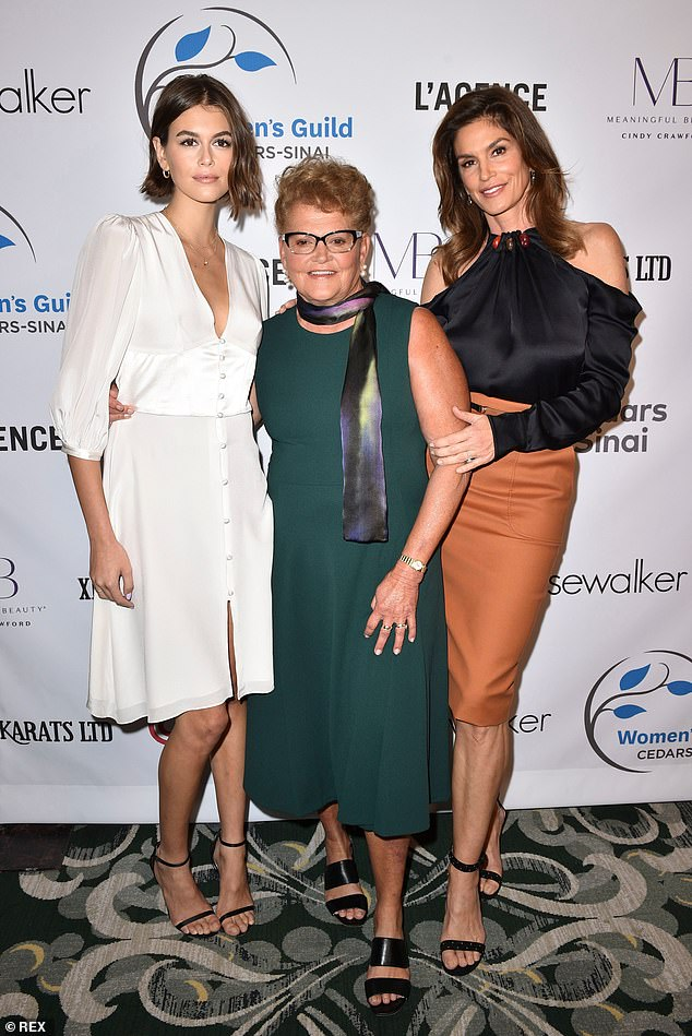 The apple doesn't fall far from the tree! Cindy Crawford, her daughter Kaia, and her mother Jennifer got all glammed up for the Women's Guild Cedars-Sinai Luncheon at the Beverly Wilshire in Los Angeles on Wednesday