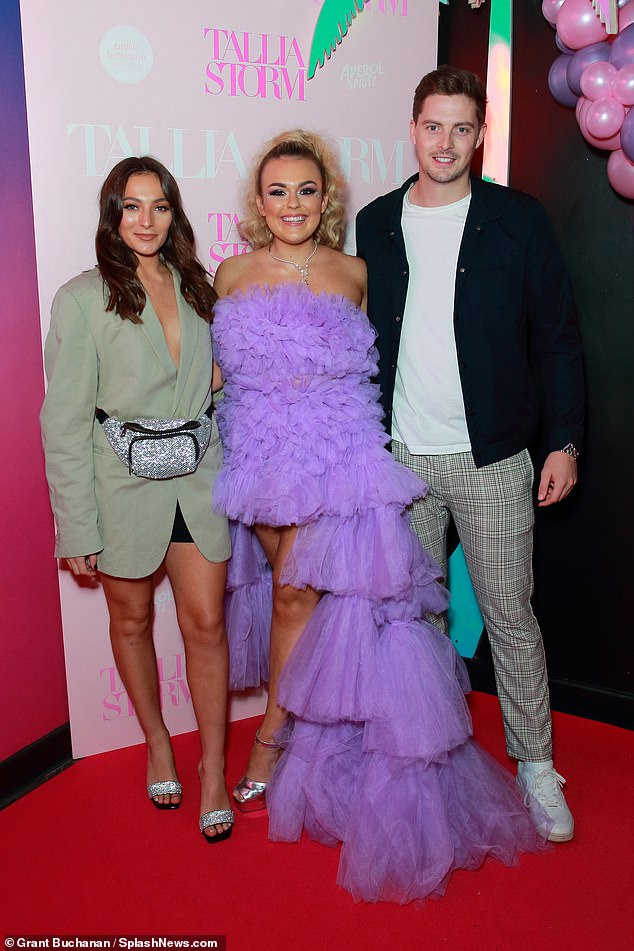 Show of support: Love Island's Alex George was accompanied by his girlfriend Amelia