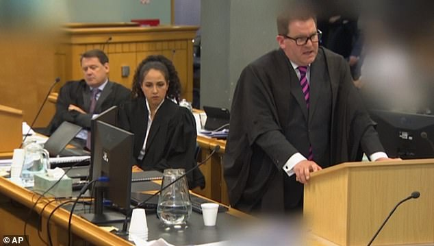 Crown Prosecutor Robin McCoubrey during his opening statement in court on Wednesday