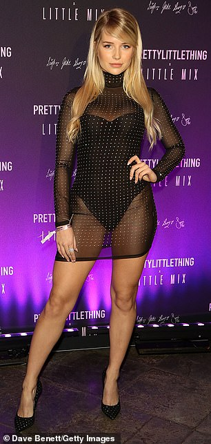Legs 11: Lottie put her toned pins on full display in her thigh-skimming number