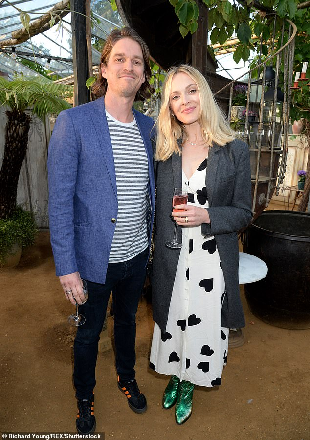 Moving on: Fearne has been married tothe son of Rolling Stones guitarist Ronnie Wood since July 2014 (pictured in May)