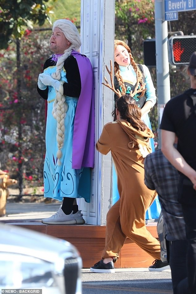 On Wednesday, Kristen Bell played a live action version of her famous Frozen character Anna, while promoting the film on The Late Late Show With James Corden