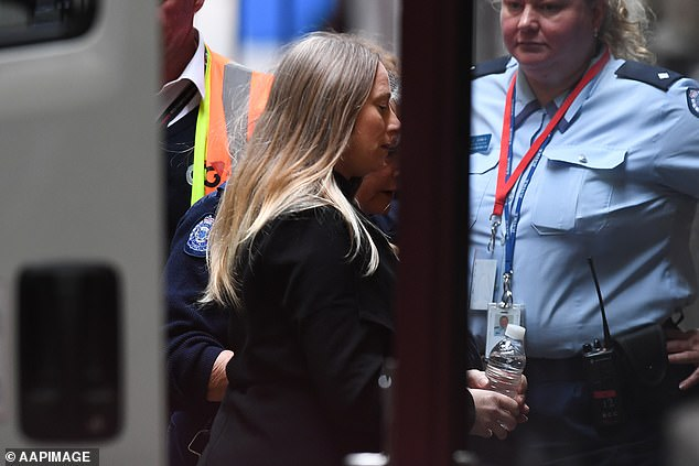 Robyn Lindholm arrives at the Supreme Court of Victoria in Melbourne before her 2019 trial over the disappearance of George Teazis. She will be 71 before she is eligible for parole