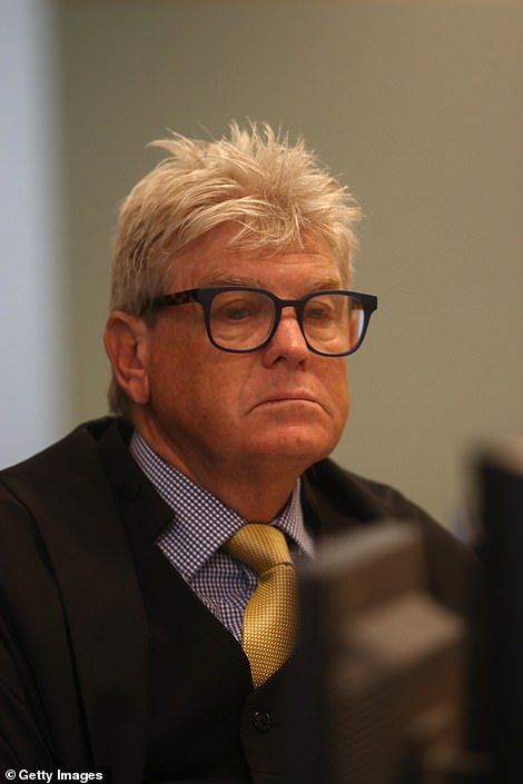 Justice Simon Moore pictured during the Grace Millane trial at the Auckland High Court on Thursday
