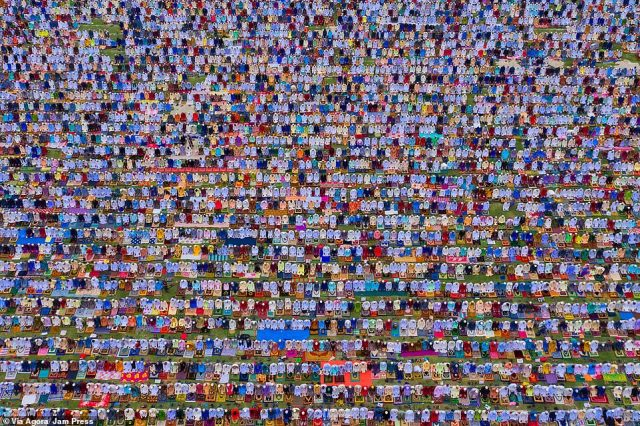 """""""Eid prayer"""" by Azim Ronnie:The Eid prayer is celebrated on the first day of the Islamic month of Shawwal, after the fasting during the holy month of Ramadan"""