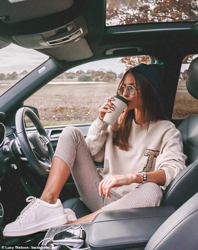 Hitting back: Lucy was recently attacked on Instagram for having 'leather' seats in her car. And so stood up for herself