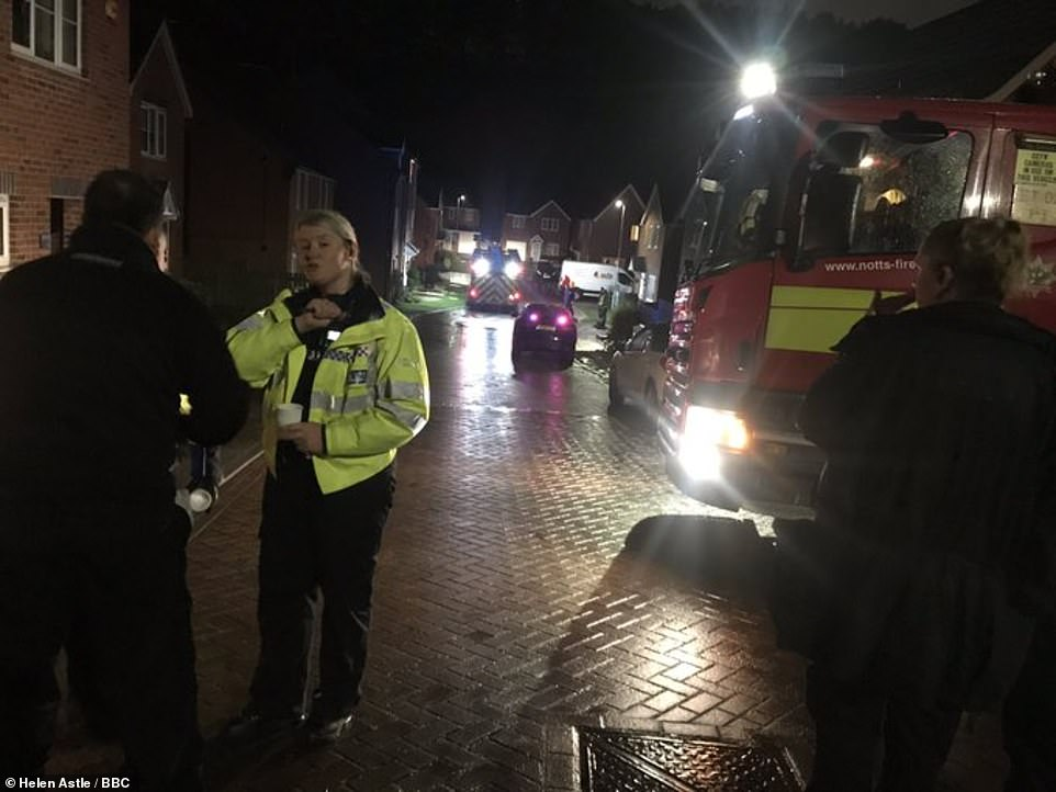 In Mansfield, Nottinghamshire, residents were evacuated from 35 homes following a mudslide caused by heavy rain last night