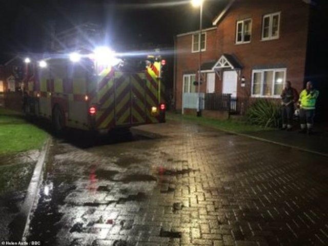 Nottinghamshire Police said officers were called to Bank End Close alongside the fire service following the mudslide