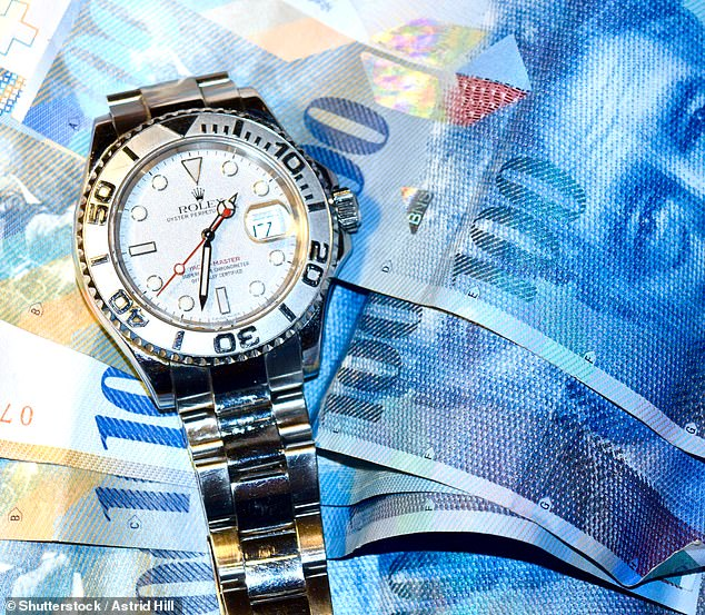 The older I get, the more I've come to believe that expensive possessions — particularly the portable kind such as top-of-the-range watches, which can so easily be stolen or lost — are much more a source of anxiety than pleasure (file image)