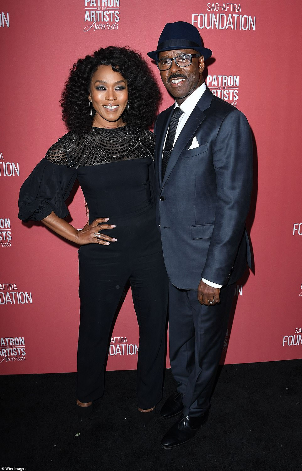 VIPs: Also there were Angela Bassett and her husband Courtney B. Vance who is the current SAG-AFTRA Foundation president