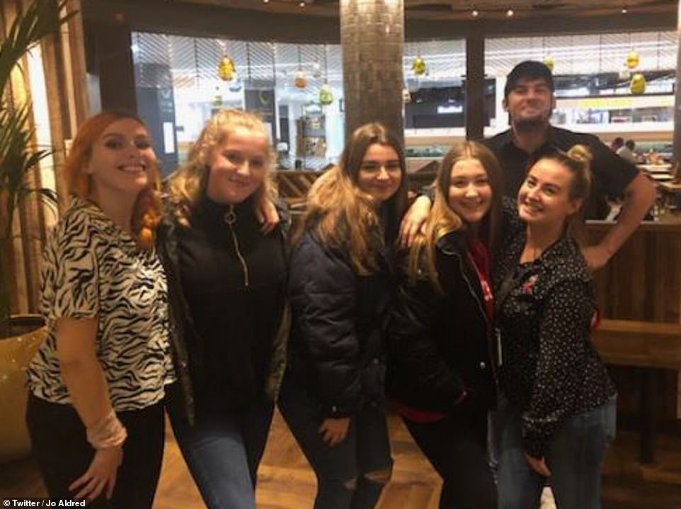 Jo Aldred tweeted a thank you to Nandos at Meadowhall, saying the restaurant 'fed my 15-year-old who made the journey for the light switch on and was stuck in Meadowhall last night without any money for a meal - I cannot thank you enough'