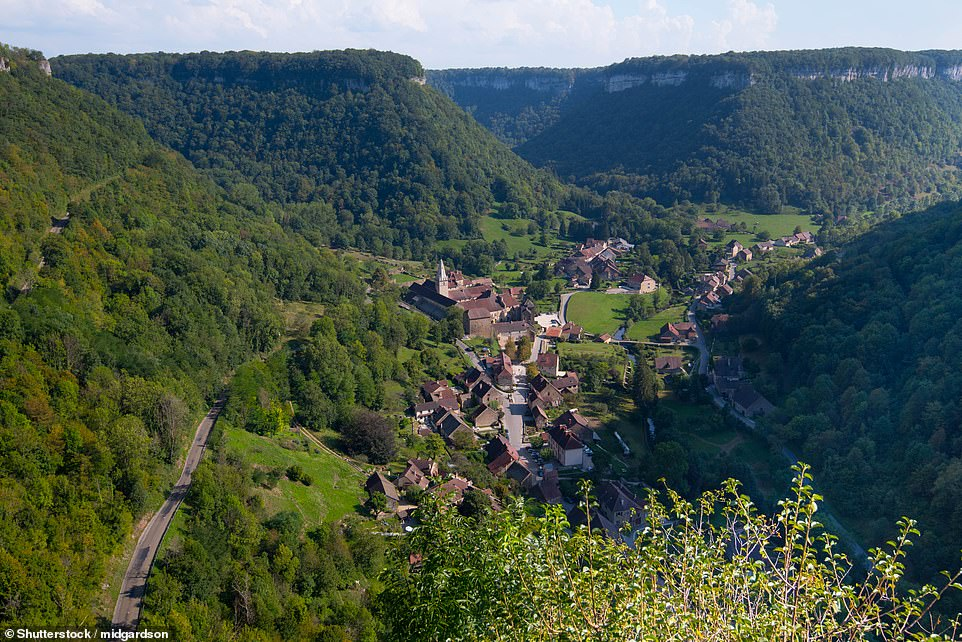 Lying snugly in a remote valley in the Jura region is dinky Baume-les-Messieurs. Highlights include a 9th-century abbey and the nearby Baume caves, said, according to the book, to be among the most spectacular in Europe