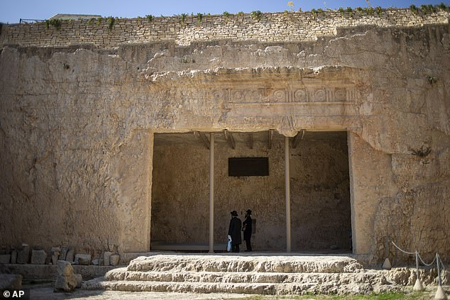 Paying visitors to the French-owned archaeology-cum-holy site in the city's eastern sector can see the tomb's impressive courtyard which dates back over 2,000 years