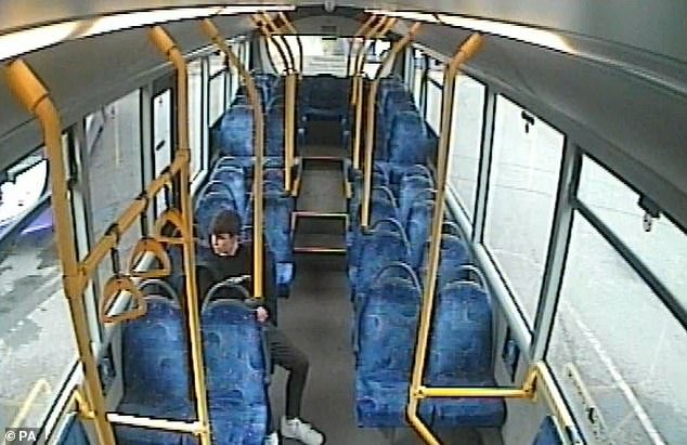 Thomas Griffiths was seen on CCTV catching a bus home to murder his former girlfriend Ellie Gould at her home in Calne, Wiltshire on May 3