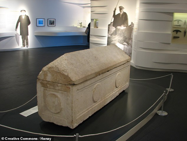 As part of the first archaeological excavations in the Holy Land, France's Louis Félicien de Saulcy was granted permission by the Turkish sultan to survey the tomb in 1863. Against the protestations of the local Jewish community, both the human remains and two sarcophagi (one of which is pictured) found within were added to the Louvre's collections in Paris