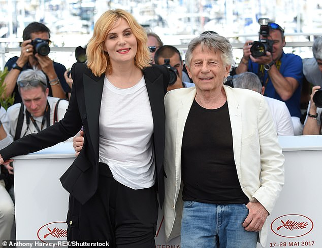 Polanski currently lives in Paris with his wife Emmanuelle Seigner (pictured), who is 33 years younger than him, and their two children, Morgane and Elvis