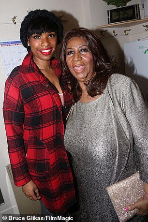 Jennifer Hudson pictured with Aretha Franklin in 2015