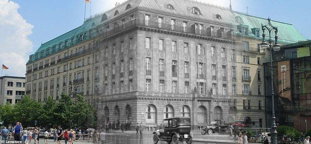 Although the numbers have never been confirmed, it is said that at least 138 people lost their lives trying to escape across the wall, whereas an estimated 5,000 did manage to flee. Pictured: Hotel Adlon in Berlin