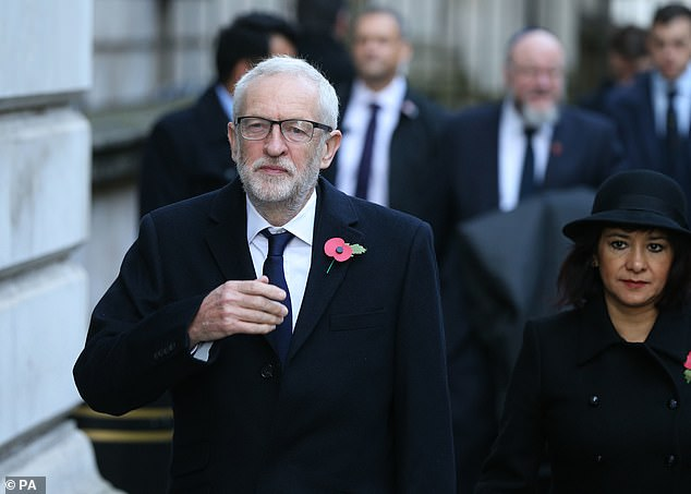 Jeremy Corbyn has smartened up for his appearance alongside other politicians and dignitaries at the Cenotaph to mark Remembrance Sunday