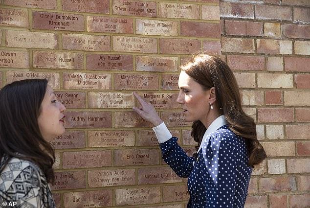 Earlier this year the Duchess visited Bletchley Park, where she looked at bricks dedicated to her grandmother Valerie Glassborow
