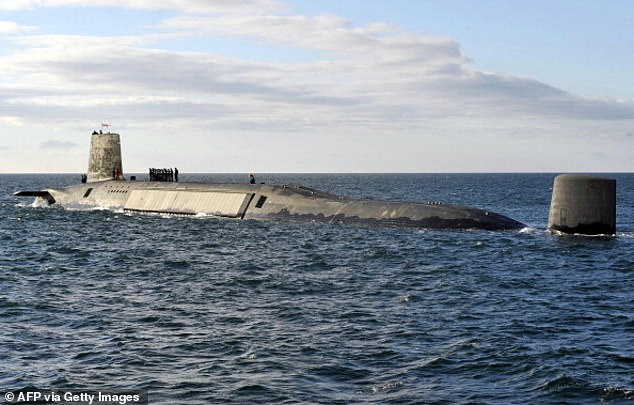 MPs voted in July 2016 to renew the Trident nuclear weapons system. Four new Dreadnought-class submarines will be built to carry the missiles and they will replace the existing Vanguard-class. HMS Victorious, one of four Vanguard submarines, is pictured on patrol off the west coast of Scotland in April 2013