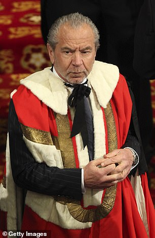 Jewish Labour peer Lord Sugar (pictured) said he would vote for Boris Johnson in the general election over Jeremy Corbyn if he was allowed to