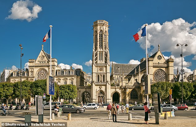 He was involved in the fight in the upmarket Saint-Germain-des-Pres district of Paris (pictured)