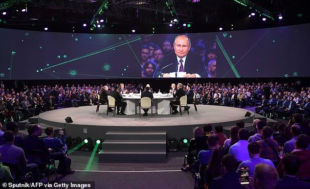 Putin said he hoped the technology would help overcome 'the inertia and sluggishness of the bureaucratic machine'