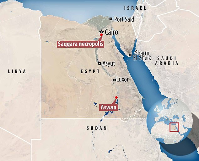 The samples were recovered from two Egyptian sites – Saqqara, the site of an ancient burial ground and Aswan, the site of an ancient city on the bank of the Nile once known as Swenett