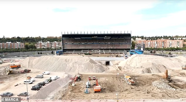 New footage shows the Vicente Calderon Stadium as it has never been seen before