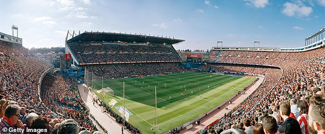 That's what the old Atletico Madrid stadium looked like before the bulldozers arrived