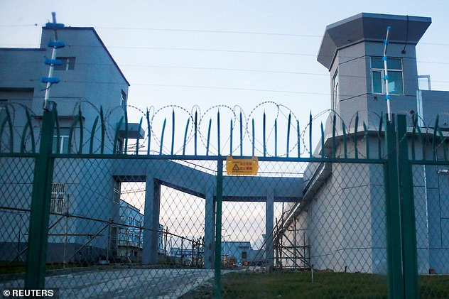 A perimeter fence is constructed around what is officially known as a vocational skills education centre in Dabancheng in Xinjiang in China's far west region. Activists have claimed that the number of Muslim detainees in China could greatly exceed the commonly cited figure