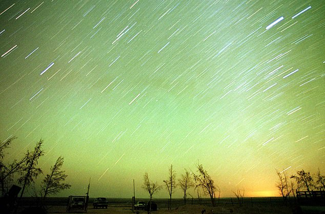 The Leonid meteor shower is visible around the world but is best viewed in areas of low light pollution like the Azraq Desert in Jordan, pictured here