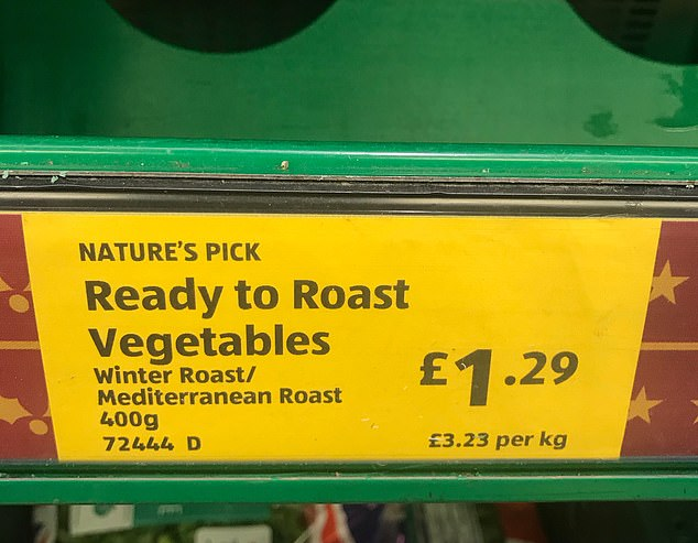 Aldi sells a similar type of product called Ready to Roast Winter Roast / Mediterranean Roast. Their product costs only £ 1.29, although it has the same weight as Waitrose's