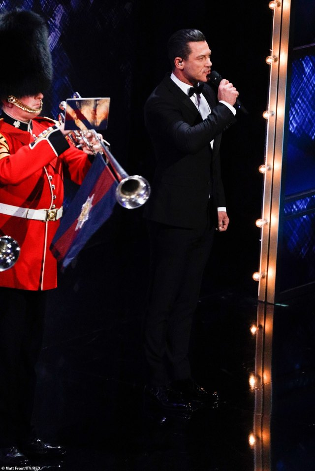 Welsh actor Luke Evans, whobegan his career on the stage, performing in many of London's West End productions such as Rent, Miss Saigon and Piaf, introduced the National Anthem at The Royal Variety Performance