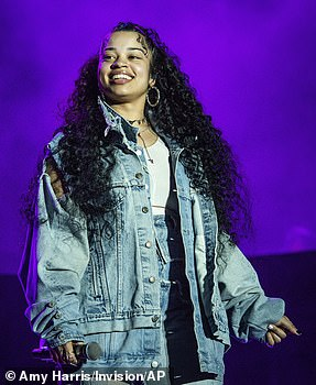 Talented: Ella Mai was nominated for Best R&B album (she is seen at Coachella in April)