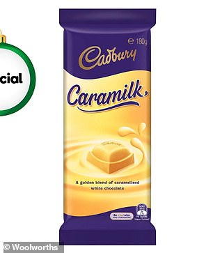 This 180g block of Cadbury's Caramilk chocolate is currently on sale at Woolworths for $3