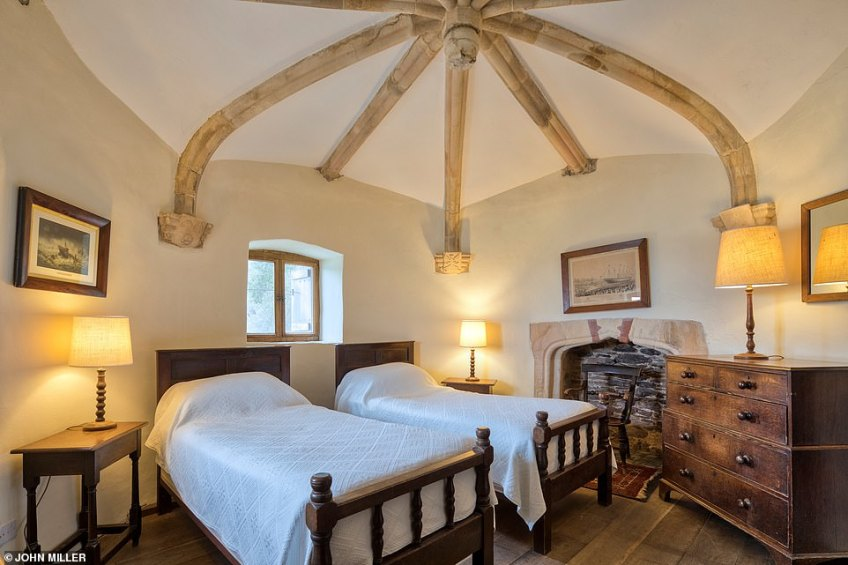 There are just two rooms in Kingswear Castle, sleeping up to four people. It has been a holiday let operated by the Landmark Trust since 1987