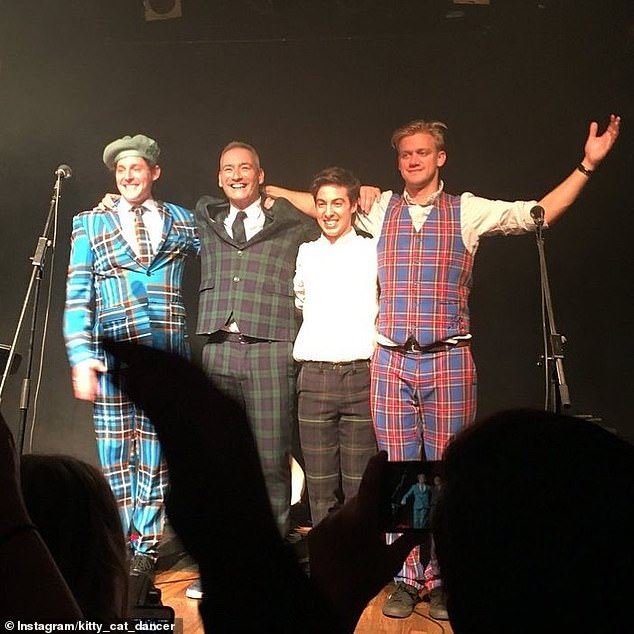 Stars: Oliver (second, right) and Emma's ex Lachlan (left) are in band The Unusual Commoners, alongside Anthony Field (second left) andDavid O'Reilly (right)
