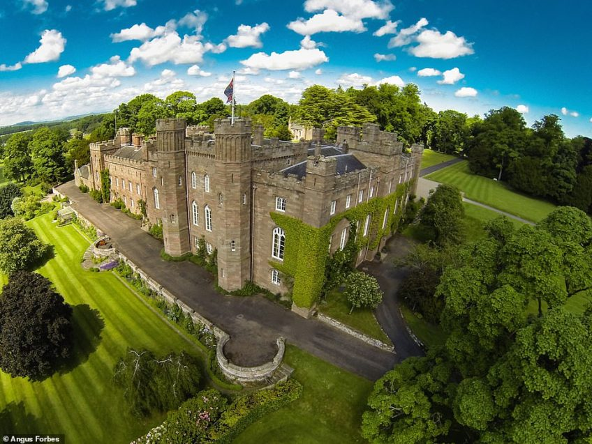 Scone Palace in Perthshire, which sits just above the River Tay and is best known as the place where Scottish kings and queens were crowned