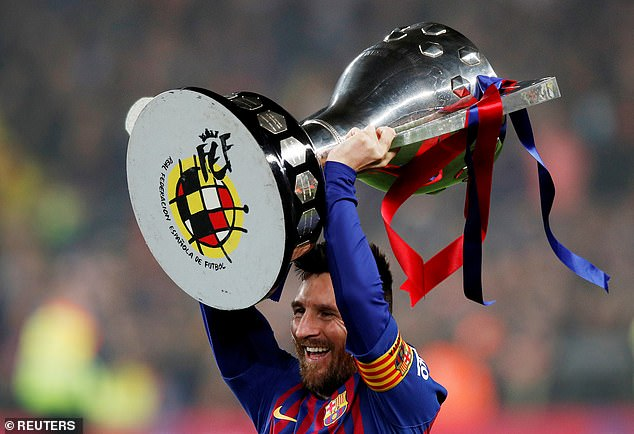 Messi triumphed in La Liga - the 10th time he has conquered the league with Barcelona