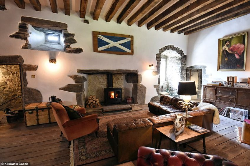Inside Kilmartin Castle is a collection of antiques from across the world as well as original pieces of artwork dating back to 1886