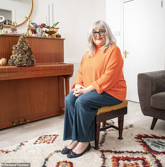 Sheryll, pictured in her North London home, said that when the throbbing pain first appeared in her right eye her vision went cloudy and many objects looked as though they had a halo on them (stock image)